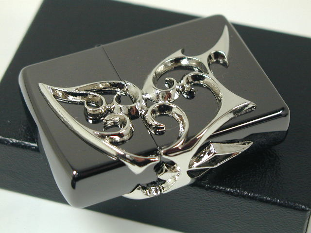 """Zippo lighters: Zippo Butterfly //3 face continuous metal / / Butterfly Black Black / Silver/Silver """"regular"""" ☆☆"""