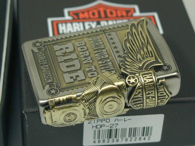 Zippo lighters: Zippo Harley-side Eagle //Harley Davidson / HDP-27 silver JP Japan limited production model silver & brass ☆☆