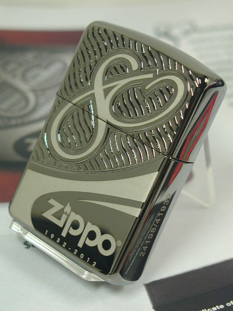 Zippo lighters: limited edition Zippo 80 anniversary Memorial armor Armor / Black Chrome / 80th ☆ gorgeous! ☆