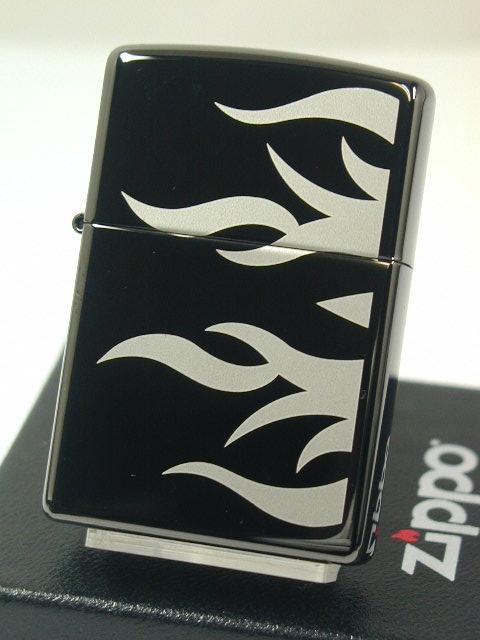 "Zippo lighters: Zippo ebony / / Flame Tattoo / tattoo tribal USA Black / Black Ebony #24951 ""regular"" 2013 ☆ fashionable! ☆"