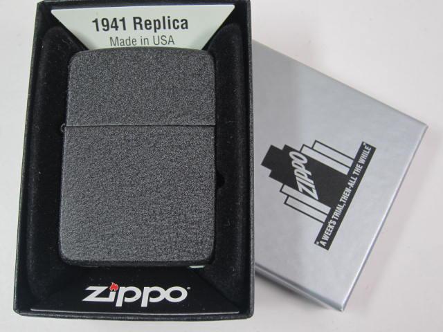 大人気 復刻モデル ジッポーライター: Zippo 1941BC ブラッククラックル WW2 Black Crackle #28582 黒 レギュラー プレーン 無地 あす楽対応 ジッポー 1941 ジッポ 第二次大戦 ダルマヤ ライター 限定特価 アーミー 純正品 USA 父の日 与え