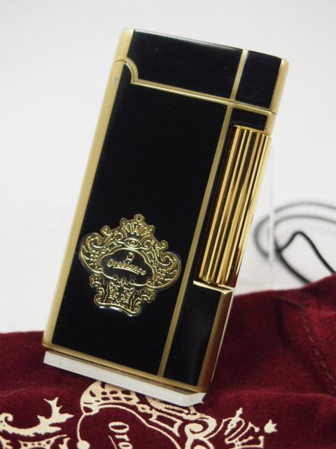 45ad060edd53 ... 高級ガスライター◇ SAROME サロメ:オロビアンコ 日本製 ゴールド&ブラック フリント ガス