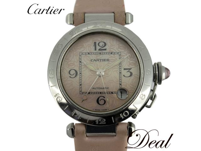 fc720b7b64bc Christmas-limited Cartier Cartier pasha C メリディアン GMT W3107099 pink shell unisex  watch