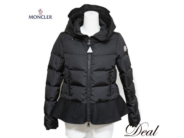 8ab1e7b45 MONCLER Monk rail NESEA Lady's down jacket size 0 black new article!