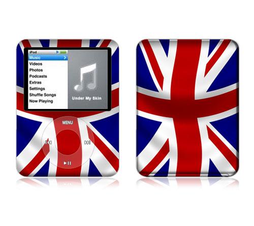Skin shirt 3rd generation (iPod nano Z5 UK Flag [ipodnano iPod nano] cute /  cover / case / popular / fashion / Deco / stickers / protection / seal /