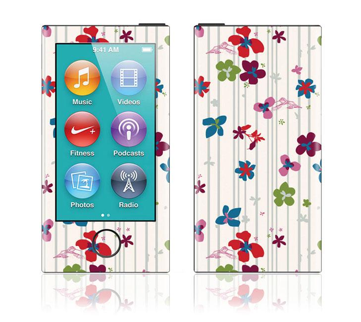iPod nano 第7世代 スキンシール DecalSkin [YU50/Hummingbird] デコ シール デコシート 前面 背面 シール カバーシール アイポッド ナノ iPodnano アイポッドナノ 7世代 7th