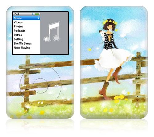 iPod classic スキンシール DecalSkin [AT21/Alicia] デコ シール デコシート 前面シール 背面シール ホイールカバーシール アイポッド クラシック iPodclassic アイポッドクラシック