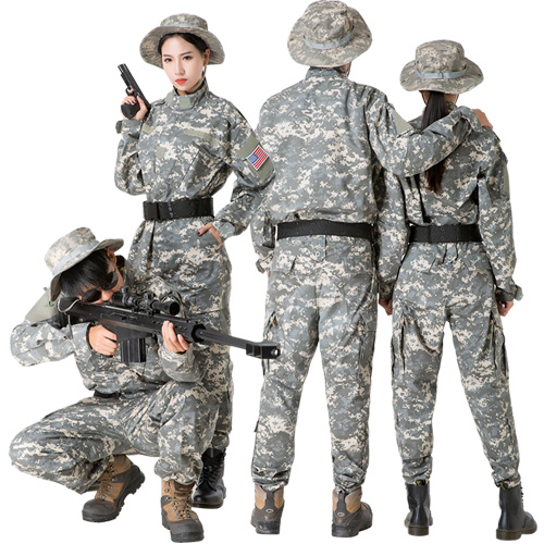 Your camouflage clothing luxury 4-piece set 4 type 6 size Halloween costume  army costume army fancy dress costume police police Camo pattern