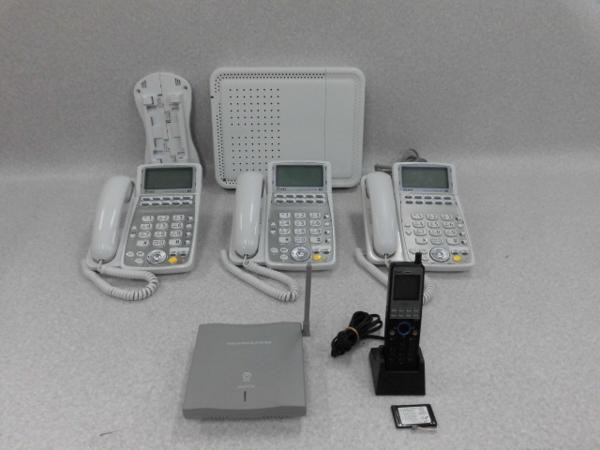 【中古】BX2-IME-(1)+ 卓上電話機 x3台 +デジタルコードレスセット x1台NTT αBX2【ビジネスホン 業務用】