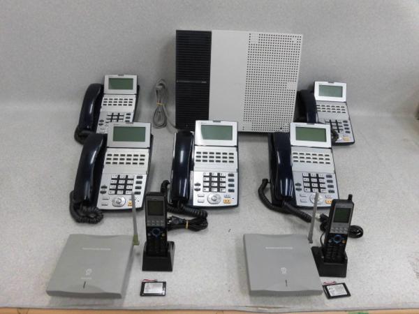 【中古】NXS-ME-(1)+ 卓上電話機 x5+ デジタルコードレス x2NTT αNX-S【ビジネスホン 業務用】