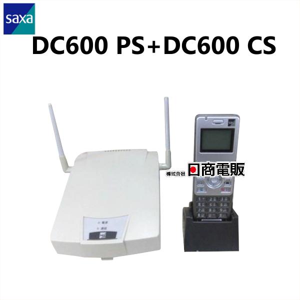 【中古】SAXA/サクサ HM用DC600 PS+DC600 CSシングルゾーンデジタルコードレス電話機【ビジネスホン 業務用 電話機 本体 子機】