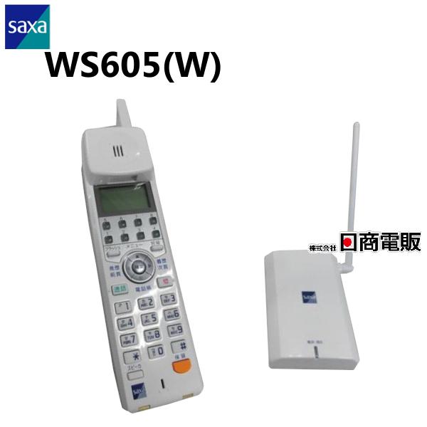 【中古】WS605(W)SAXA/サクサ AGREA HM700アナログコードレス電話機【ビジネスホン 業務用 電話機 本体 子機】