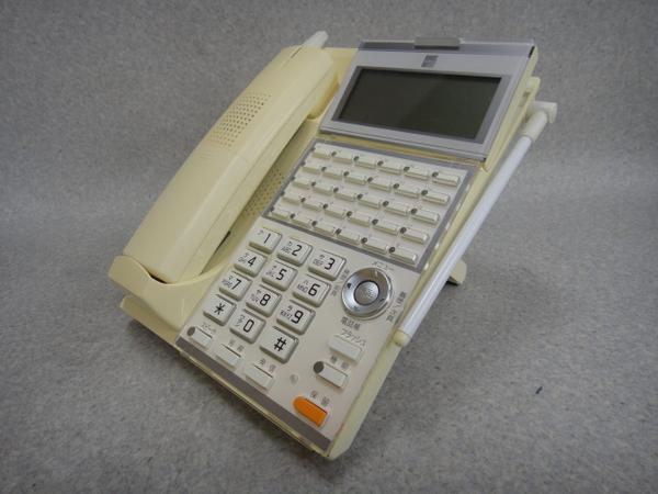【中古】【日焼け】CL620SAXA/サクサ UT用30ボタンカールコードレス電話機【ビジネスホン 業務用 電話機 本体 子機】