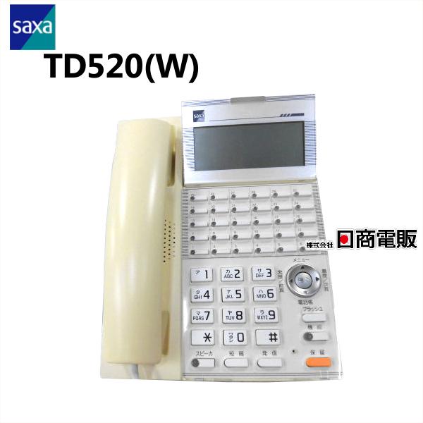 日焼け TD520 W SAXA 送料込 サクサ GT500 漢字表示チルドディスプレイ30ボタン電話機 本体 電話機 業務用 中古ビジネスホン 中古ビジネスフォン ビジネスホン 中古 オリジナル