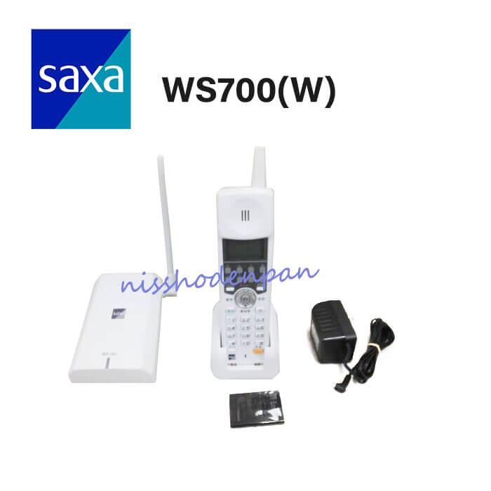【中古】SAXA/サクサ PLATIA PT1000WS700(W) コードレス電話機【ビジネスホン 業務用 電話機 本体 子機】