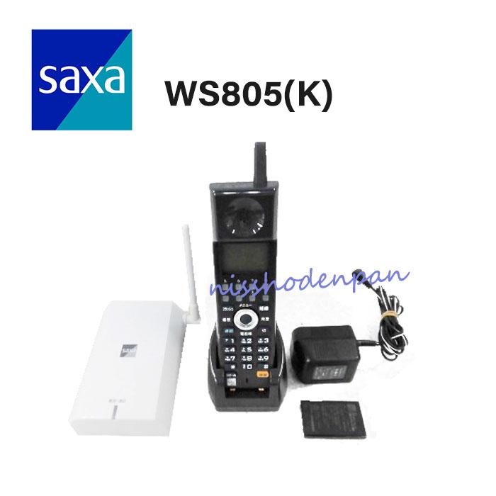 【中古】WS805(K) SAXA/サクサ PLATIA 2 Blue tooth コードレス電話機【ビジネスホン 業務用 電話機 本体 子機】
