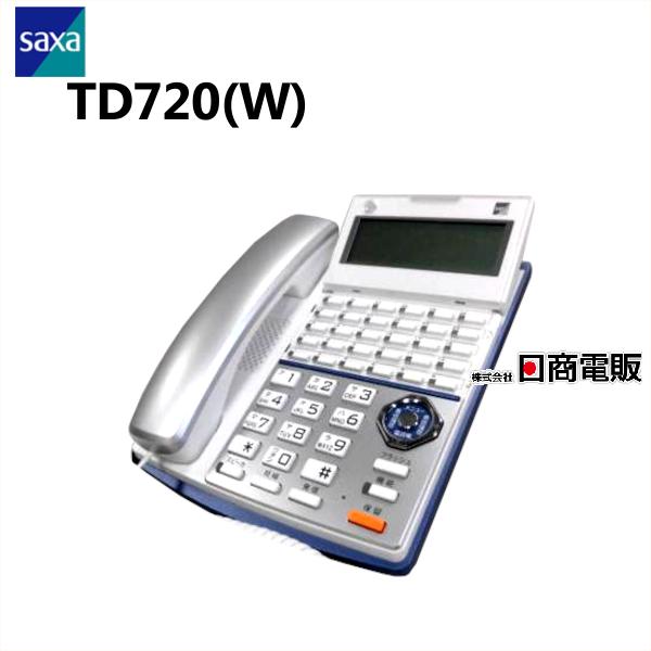 TD720 W SAXA サクサ PLATIA 新色追加して再販 プラティア 30ボタン標準電話機 電話機 業務用 新色追加 中古 中古ビジネスフォン 本体 ビジネスホン 中古ビジネスホン