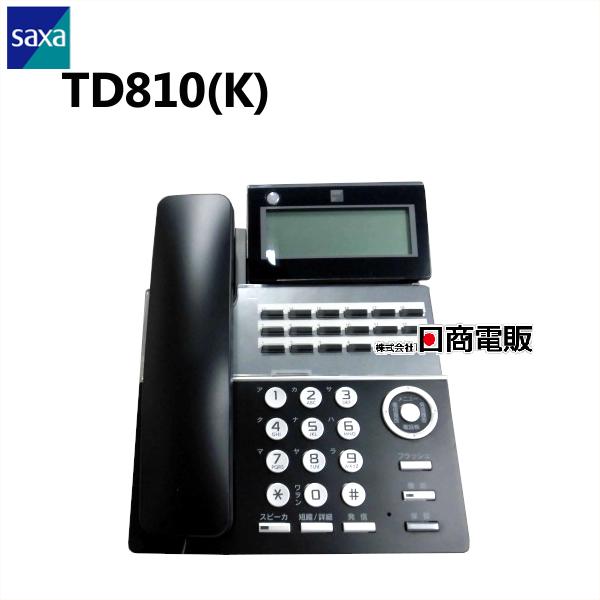 【中古】TD810(K)SAXA サクサ PLATIAII18ボタン標準電話機(黒) 【ビジネスホン 業務用 電話機 本体】