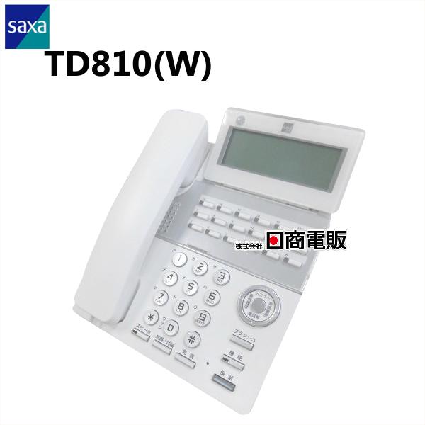 【中古】TD810(W)SAXA サクサ PLATIAII18ボタン標準電話機(白) 【ビジネスホン 業務用 電話機 本体】