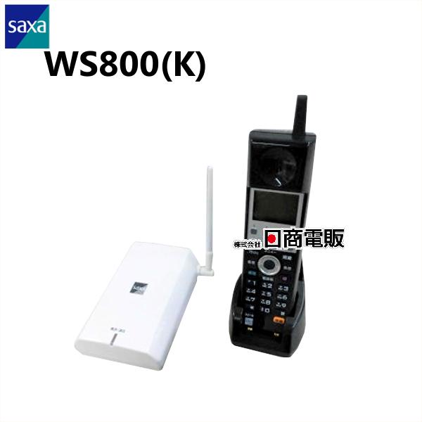【中古】WS800(K) SAXA/サクサ PLATIA(プラティア)コードレス電話機【ビジネスホン 業務用 電話機 本体 子機】
