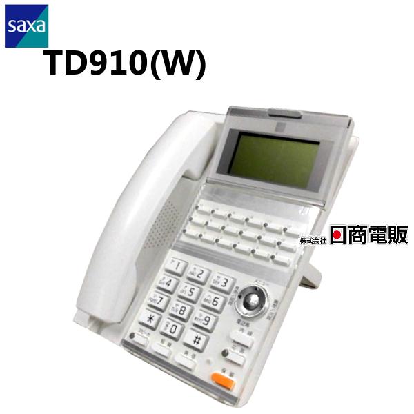 【中古】TD910(W) SAXA/サクサ AGREA LT900 18ボタン標準電話機(白)【ビジネスホン 業務用 電話機 本体】