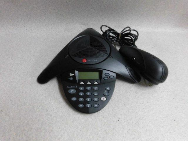 【中古】SoundStation2POLYCOM/ポリコム 音声会議システム【ビジネスホン 業務用 電話機 本体】
