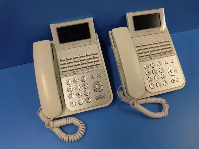 【中古】【2台セット】NYC-24iF-SDWナカヨ/NAKAYO iF 24ボタン標準電話機【ビジネスホン 業務用 電話機 本体】