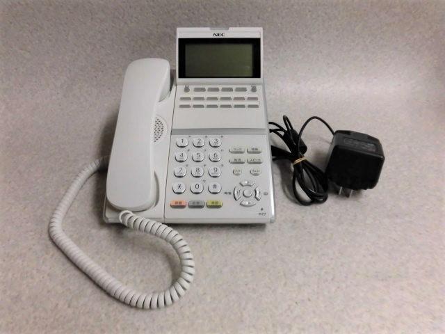 【中古】【アダプタ付き】ITZ-12D-1D(WH)NEC Aspire UX 12ボタンIP標準電話機(白)【ビジネスホン 業務用 電話機 本体 子機】
