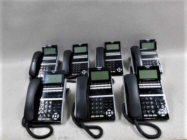 【中古】【7台セット】DTZ-12D-2D(BK)TEL NEC Aspire UX12ボタン電話機【ビジネスホン 業務用 電話機 本体】
