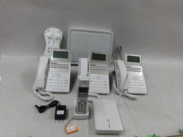 【中古】B1-AME-(1)NTT スマートネットコミュ二ティαB1 アナログ主装置/18ボタンスター電話機×3 αA1 コードレス電話機 セット【ビジネスホン 業務用】
