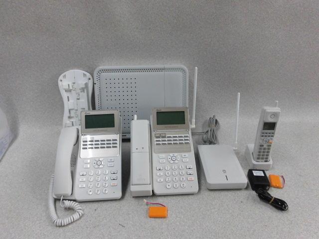【中古】B1-AME-(1) SLU付+ A1-(18)STEL-(B1)(W)+ A1-DECL-PSSET-(1)(W)+ A1-(18)CCLSTEL-(B1)(W)NTT αB1 アナログ主装置電話機+コードレス+カールコードレス セット【ビジネスホン 業務用】