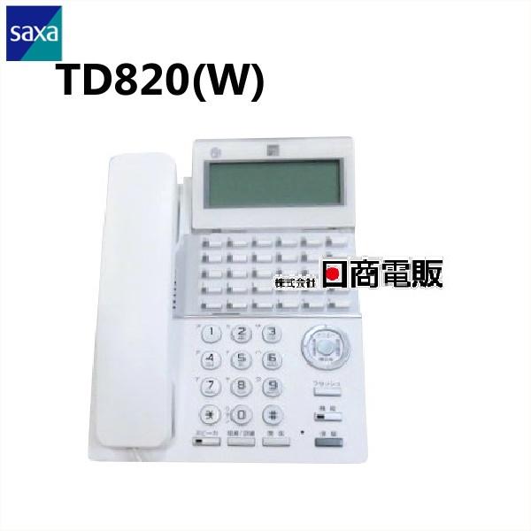 【中古】現行品! TD820(W)SAXA/サクサ PLATIA II30ボタン標準電話機【ビジネスホン 業務用 電話機 本体】