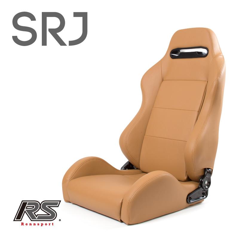 21段階レバー式リクライニング Rennsport(レンシュポルト)SRシリーズ【SRJ】セミバケットシート/ベージュPVCレザー