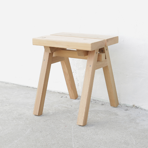 Ishinomaki Factory / Wooden Stool Low / Chair, Wood, Folding, Natural  Finish,