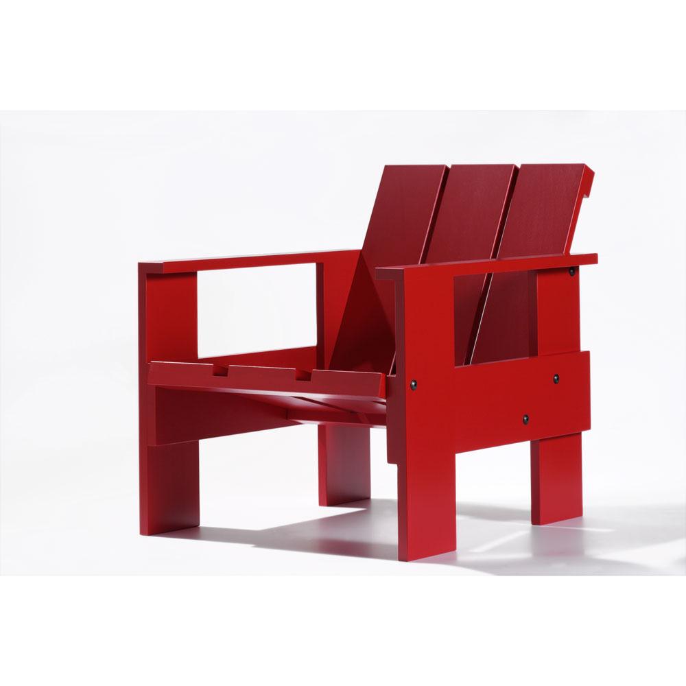 【良品アウトレット/在庫処分】組み立て子供椅子・キッズチェア/リートフェルト/クレイトチェアJr/レッド[子供椅子・キッズチェア 組み立て式/シリアルNo入] 【楽ギフ_包装選択】
