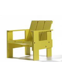 【良品アウトレット/在庫処分】組み立て子供椅子・キッズチェア/リートフェルト/クレイトチェアJr/イエロー[子供椅子・キッズチェア 組み立て式/シリアルNo入]