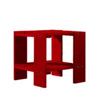 【良品アウトレット/在庫処分】リートフェルト/組み立て子供テーブル・キッズテーブル/クレイトテーブルJr・スツール/レッド[子供テーブル・キッズテーブル 組み立て式/シリアルNo入]