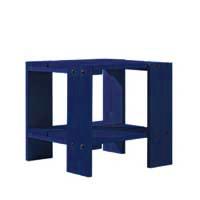 【良品アウトレット/在庫処分】リートフェルト/組み立て子供テーブル・キッズテーブル/クレイトテーブルJr・スツール/ブルー[子供テーブル・キッズテーブル 組み立て式/シリアルNo入]