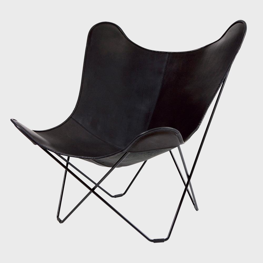 【マラソン期間¥100-2000クーポン】北欧スウェーデン/BKF Chair BKFチェア/ブラックレザー