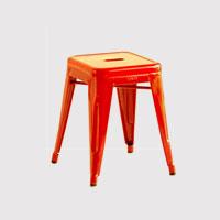 【マラソン期間¥100-2000クーポン】tolix トリックス/H stools/ホワイト・レッド [パリ カフェの定番トリックス tolix スツール]