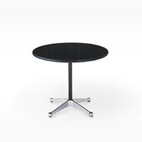ハーマンミラー / イームズ / コントラクトベース/丸 テーブル/黒/Φ106.5xH70cm[テーブルはイームズ/ハーマンミラー]