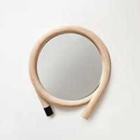 【100円クーポン】籐のウォールミラー wawa/ブラック [ 鏡・収納 / 鏡 /丸型 ]
