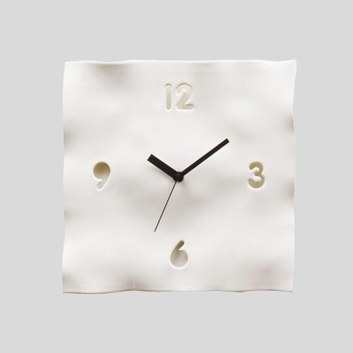 EGON WALL CLOCK/NATURAL white