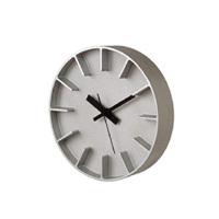 【100-2000円offクーポン】安積伸・安積朋子 edge clockφ18(アルミニウム) [ デザイナーズ ウォールクロック:AZUMI ]