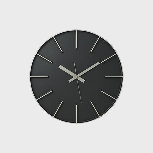【マラソン期間¥100-2000クーポン】安積伸・安積朋子 edge clockφ35(アルミニウム) [ デザイナーズ ウォールクロック:AZUMI ]