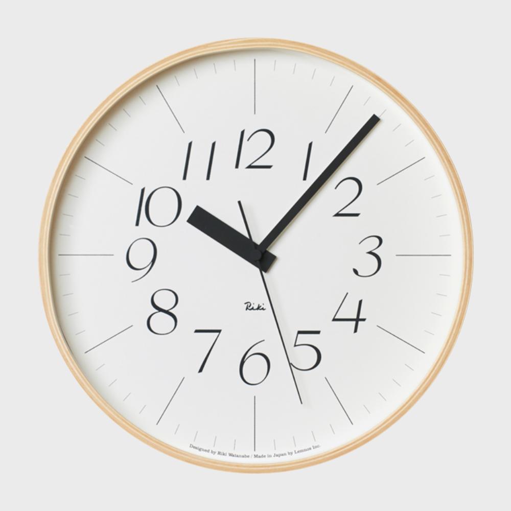 [渡辺力/リキワタナベ]Lemnos レムノス/riki clock(リキクロック)電波時計/掛時計 細字L [渡辺力/リキワタナベの壁掛け 電波時計リキクロック]