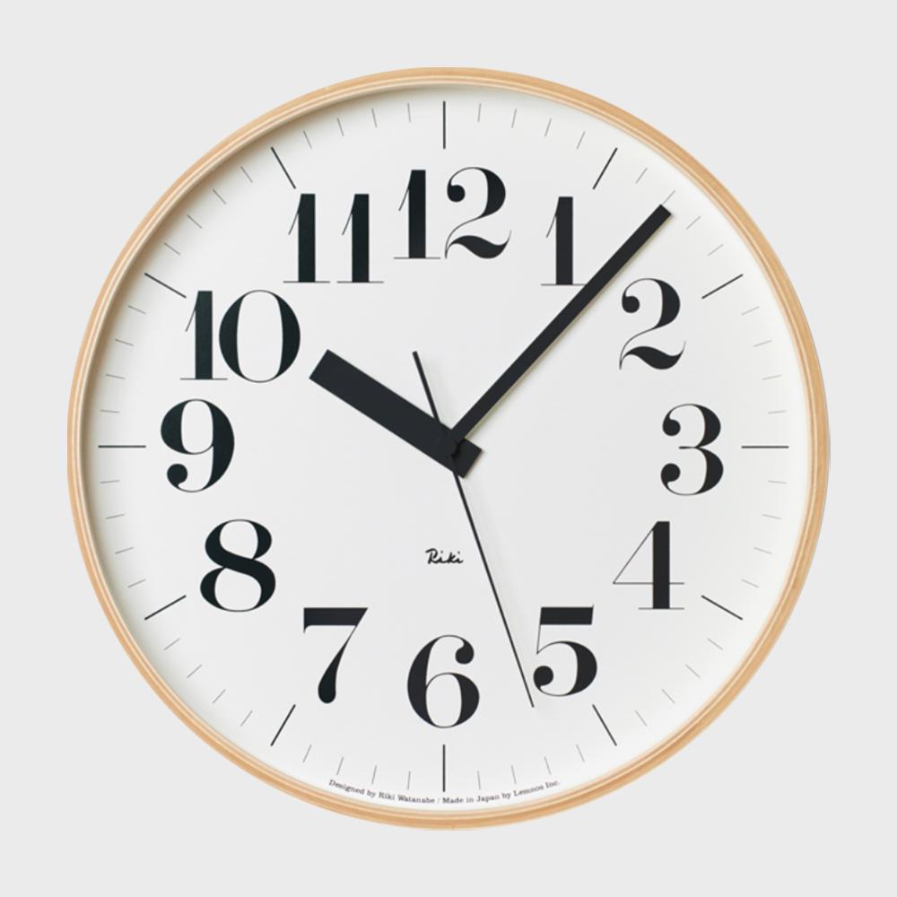 [渡辺力/リキワタナベ]Lemnos レムノス/riki clock(リキクロック)電波時計/掛時計 太字L [渡辺力/リキワタナベの壁掛け 電波時計リキクロック]