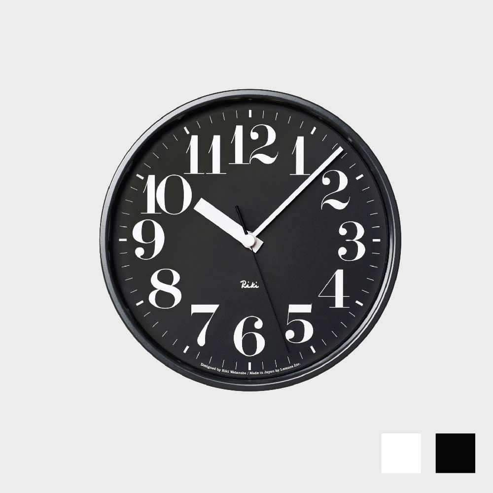 [渡辺力/リキワタナベ]Lemnos レムノス/riki clock(リキクロック)電波時計/掛時計 スチール/数字指標タイプ [渡辺力/リキワタナベの壁掛け 電波時計リキクロック]