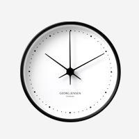 【100円クーポン】GEORG JENSEN ジョージ ジェンセン/KOPPEL/掛時計・壁掛け時計BK SS WHダイヤル/φ15 [北欧 おしゃれな掛時計・壁掛け時計はジョージ ジェンセン]