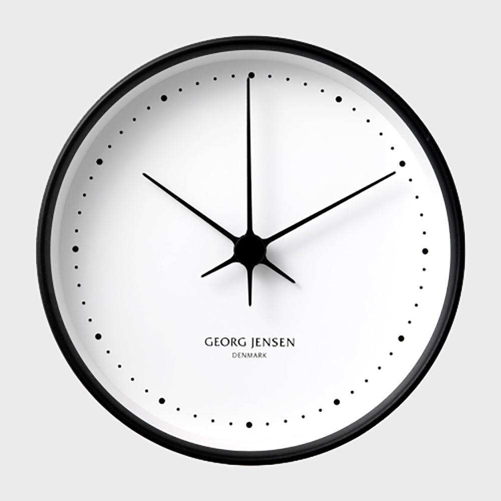 【100-3000円offクーポン】GEORG JENSEN ジョージ ジェンセン/KOPPEL/掛時計・壁掛け時計BK SS WHダイヤル/φ22 [北欧 おしゃれな掛時計・壁掛け時計はジョージ ジェンセン]